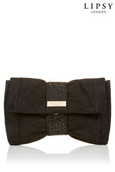 Lipsy Diamanté Bow Clutch