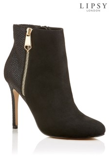 Lipsy Reptile Back Ankle Boots