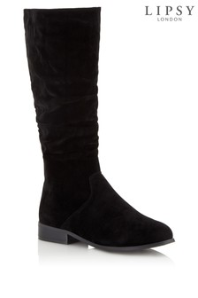 Lipsy Flat Ruched Leg Boots
