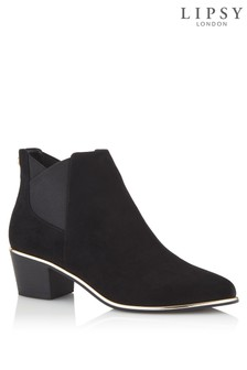 Lipsy Block Heel Elastic Ankle Boots