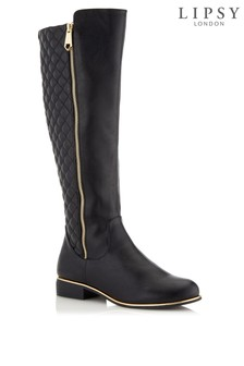 Lipsy Knee High Quilted Riding Boot