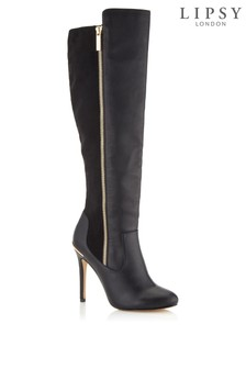 Lipsy Zip Detail Stiletto Knee High Boots
