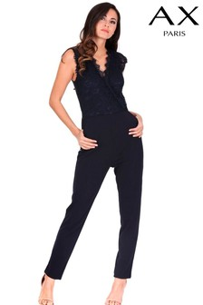 AX Paris Lace Wrap Jumpsuit