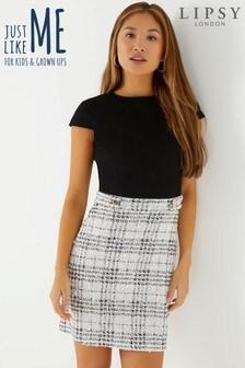 Lipsy Check 2 in 1 A line Mini Dress