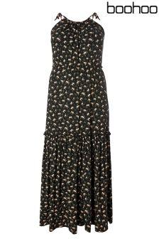 Boohoo Plus Tiered Maxi Dress
