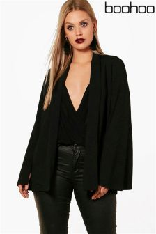 Boohoo Plus Tailored Wide Sleeve Blazer