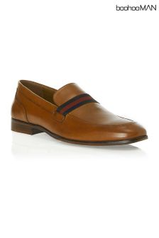Boohoo Man Slip On Stripe Loafer