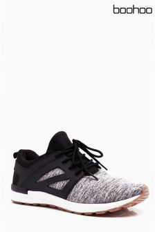 Boohoo Lace-Up Running Trainers