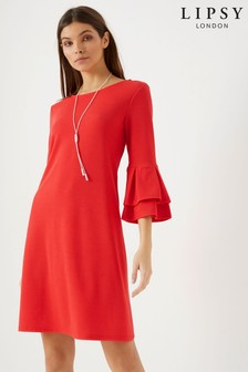 Lipsy Flute Sleeve Shift Dress