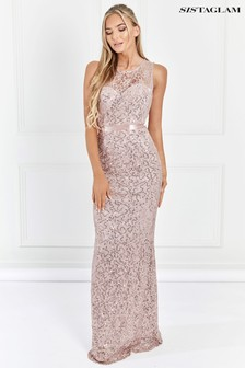 Sistaglam Sequin Bridesmaid Maxi Dress