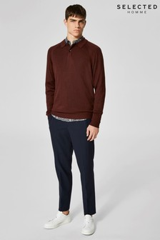 Selected Homme Rib Polo Neck Shirt