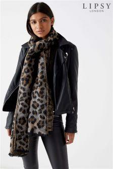 Lipsy Leopard Woven Scarf