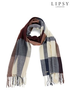 Lipsy Check Woven Scarf