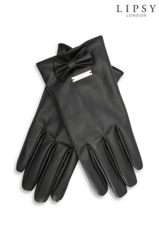 Lipsy Faux Leather Smart Touch Gloves