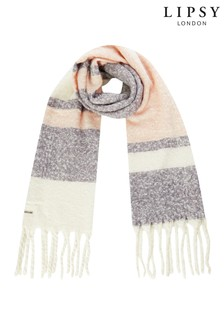 Lipsy Boucle Woven Check Scarf