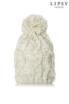Lipsy Cable Pom Hat