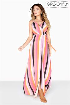 Girls On Film Wrap Maxi Dress