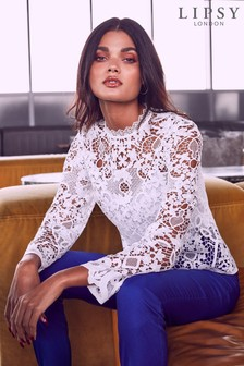 Lipsy All Over Lace Shell Top