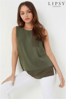 Lipsy Front Pocket Utility Sleeveless Blouse