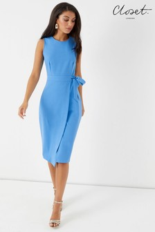 Closet Tie V Back Pencil Dress