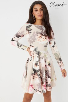 Closet Floral Print Dress