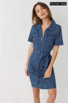 Noisy May Short Sleeve Belted Dress