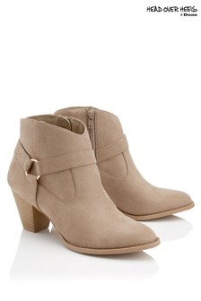 Head Over Heels Point Toe Ankle Boots