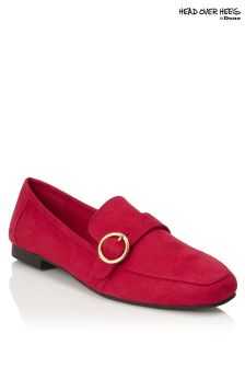 Head Over Heels Buckle Trim Loafers