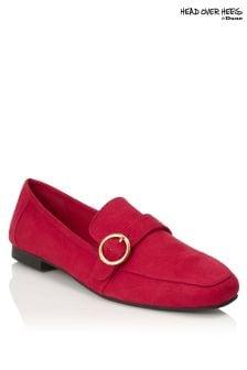 Head Over Heels Buckle Trim Loafers