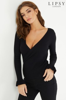 Lipsy Wrap Front Jumper