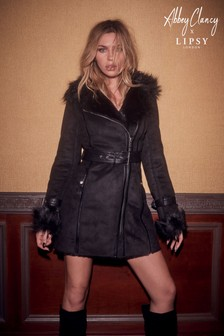 Abbey Clancy x Lipsy Bonded Wrap Coat