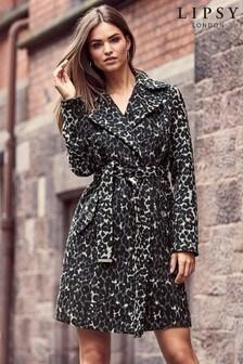 Lipsy Leopard Wrap Coat