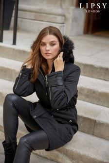 Lipsy Luxe Faux Fur Trimmed Hood Parka