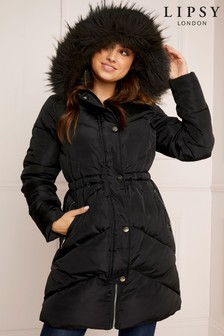 Lipsy Port Longline Padded Coat