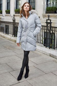 Lipsy Longline Padded Coat