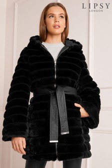 Lipsy Reversible Faux Fur Padded Coat