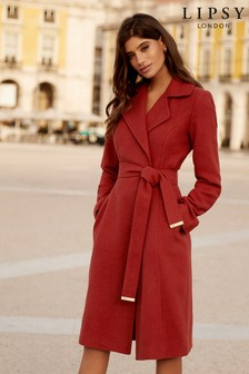 Lipsy Rust Wrap Coat