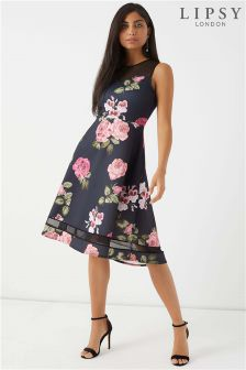 Lipsy Lace Sweetheart Midi Dress