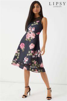 Lipsy Lace Sweetheart Midi Dress