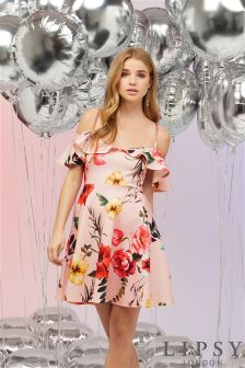 Lipsy Floral Bardot Dress