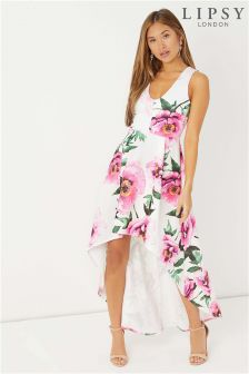 Lipsy High Low Floral Midi Dress