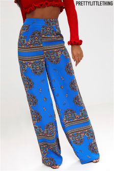 PrettyLittleThing Scarf Print Wide Leg Trousers