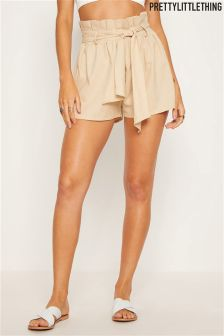 PrettyLittleThing Paper Bag Shorts
