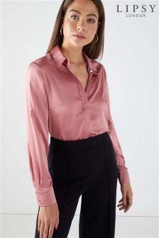Атласная рубашка Lipsy