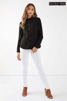 Noisy May Long Sleeve Denim Shirt