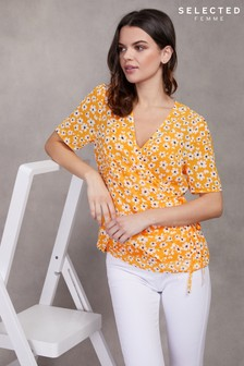 Selected Femme Floral Wrap Top