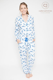 Cyberjammies  Feather Print Pyjama Set