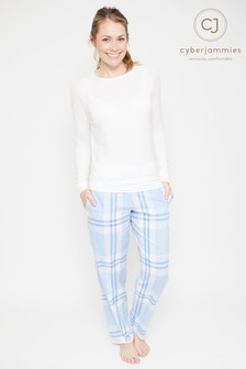Cyberjammies Check Print Trouser Pyjama Set