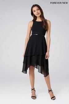 Sukienka midi drobna Forever New 2-in-1 warstwowa
