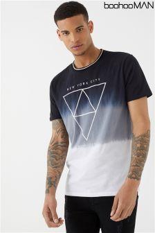 Boohoo Man New York Print T-Shirt